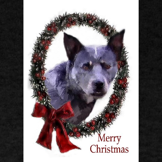 blue heeler wreath redo