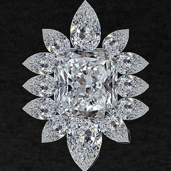 Ascher Diamond Brooch