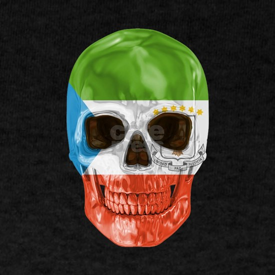 Skull Flag Of Equatorial Guinea