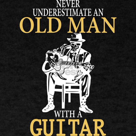 Old Man With A Guitar T Shirt
