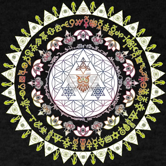 Everything Mandala color - owl, lotus, flower of l