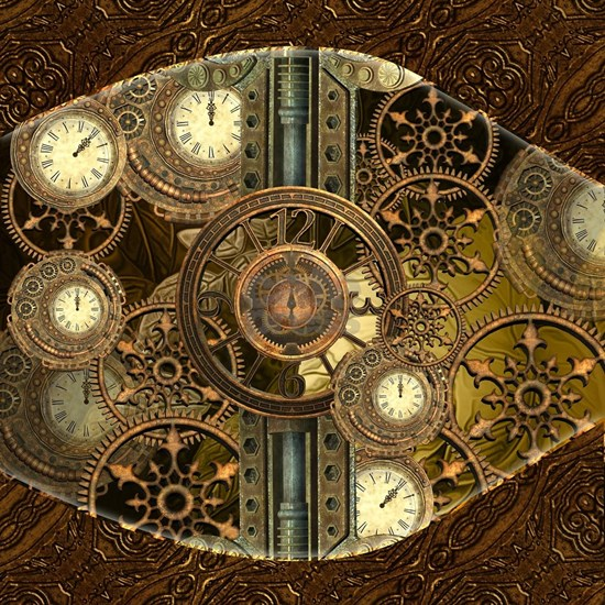 Steampunk, awessome clocks with gears