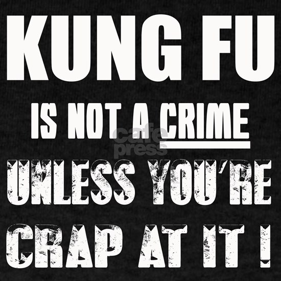 Kung Fu is not a Crime unless youre crap at it !