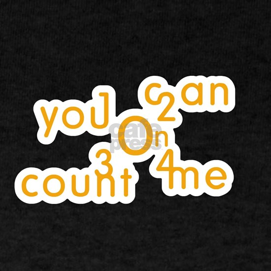 You can count on me - orange on white