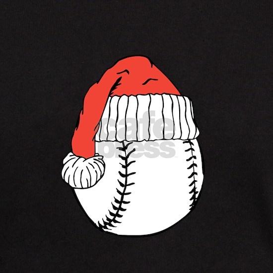 Santa hat on baseball