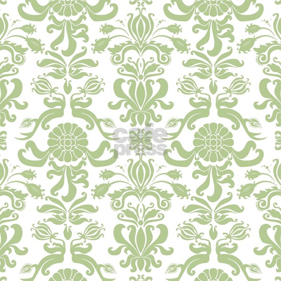 Pale Green Damask