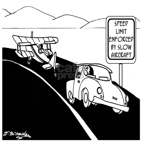 Speed Limit Enforced by Slow Aircraft