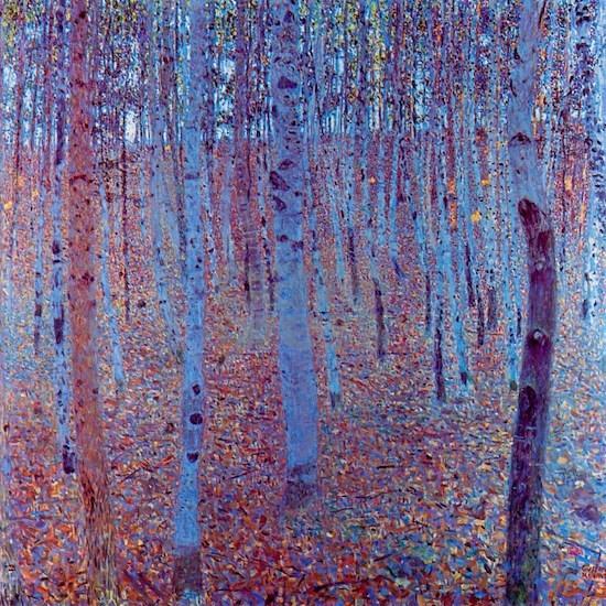 Beech Forest by Gustav Klimt, Vintage Art Nouveau