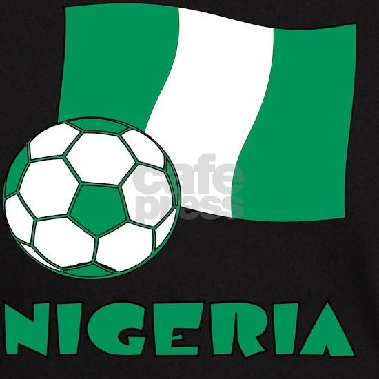 Nigeria Flag and Soccer