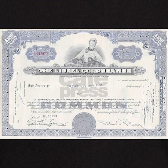 Lionel stock certificate