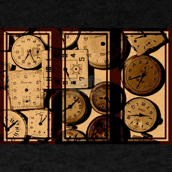 triptych vintage watch faces