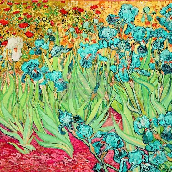 van gogh teal irises