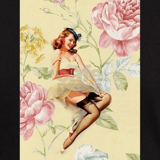 vintage sailor girl retro floral fashion