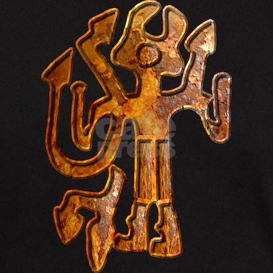 Horned figure rust blk