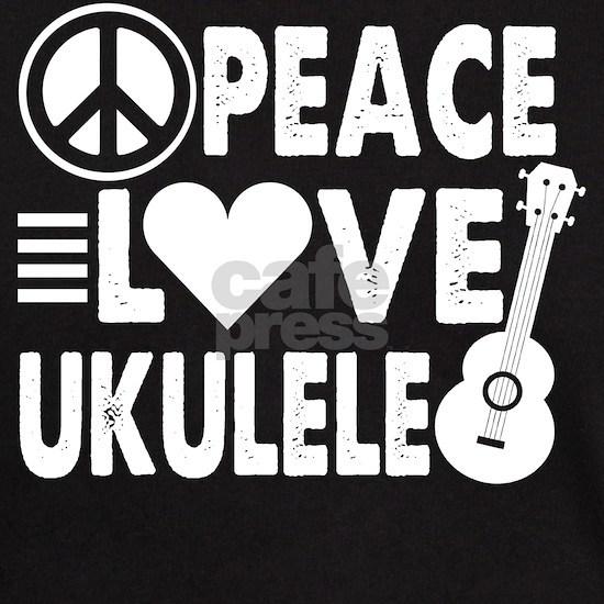 Ukulele shirt - Peace Love Ukelele T Shirt Uke Lov