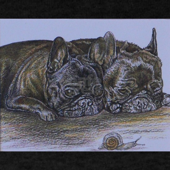 French Bulldogs with Snail