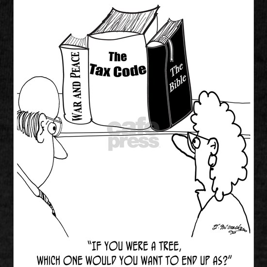 Pity the Tree That Becomes the Tax Code
