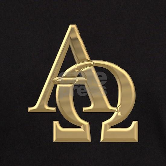 3-D Golden Alpha and Omega Symbol