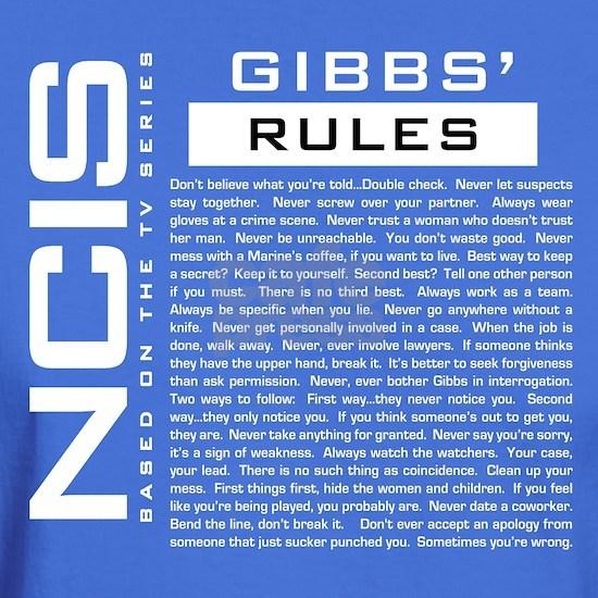 NCIS Gibbs Rules