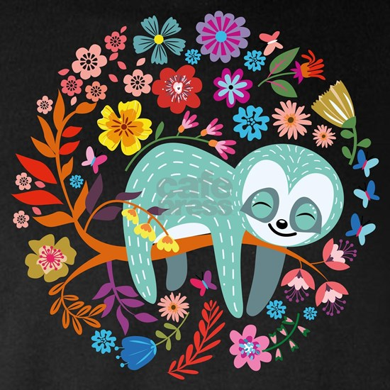 Sloth with flowers