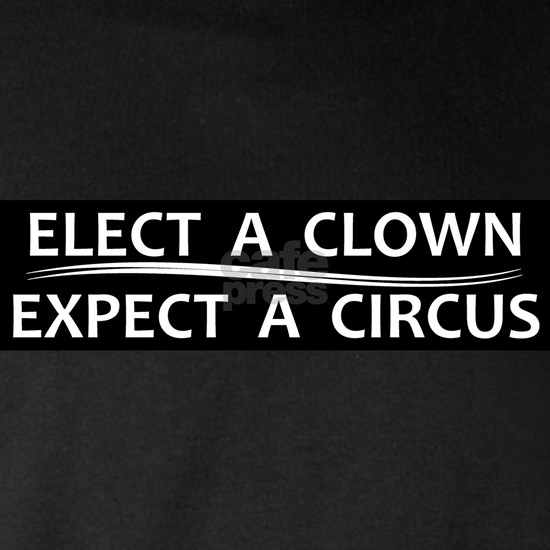 Elect a Clown Expect a Circus sticker magnet