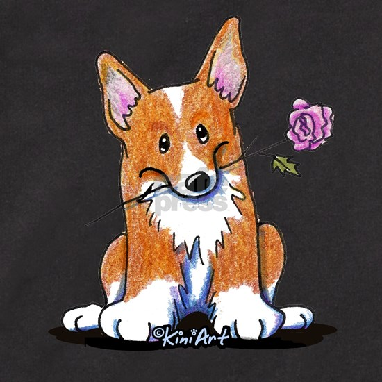 Corgi With Flower