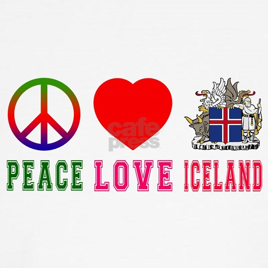 Peace Love Iceland Coat Of Arms Designs