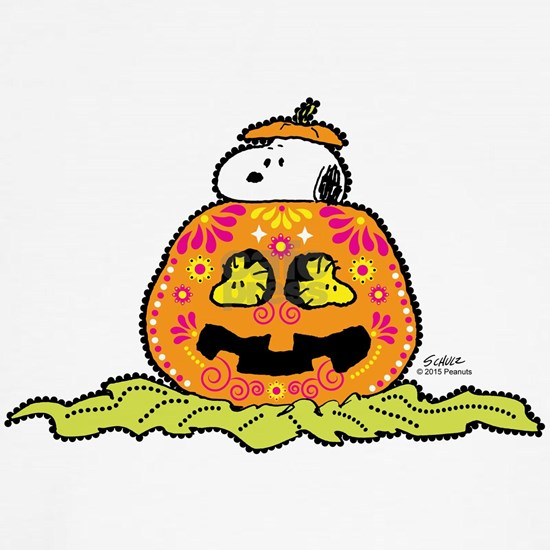 Day of the Dead Snoopy Pumpkin Light