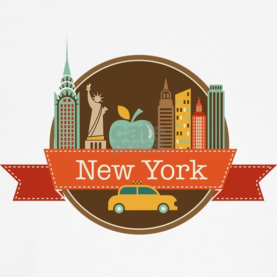 New York Big Apple Badge