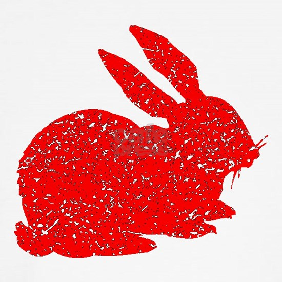 Distressed Red Bunny