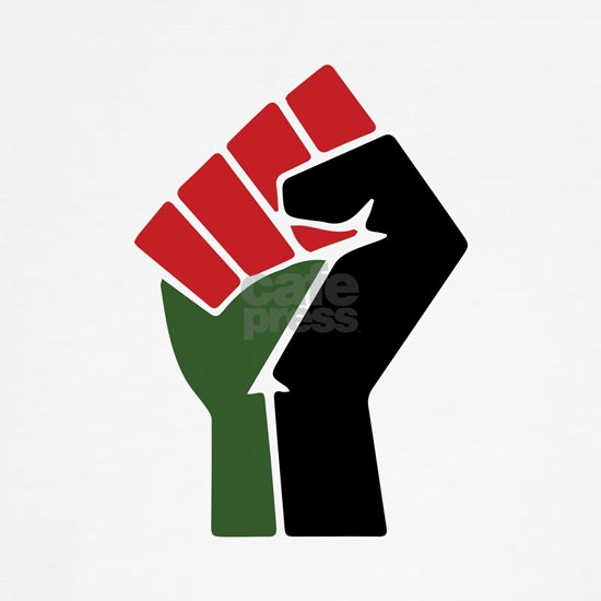 Black Red Green Fist