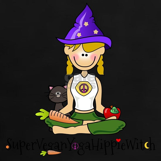 Super Vegan Yoga Hippie Witch