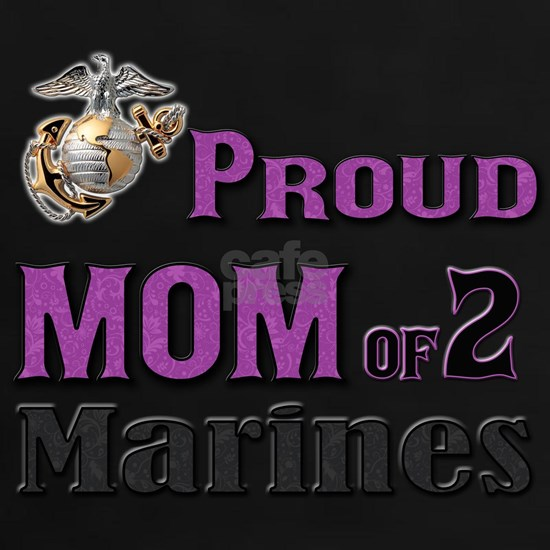 Proud Mom of 2 Marines (Purple)