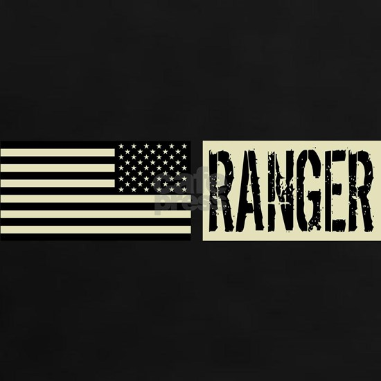 U.S. Army Ranger: Black Backwards Flag