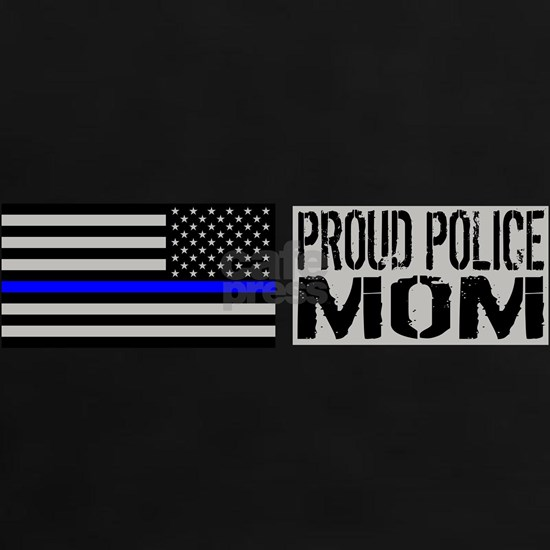 Police: Proud Mom (Black Flag & Blue Line)