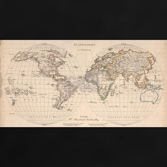 Vintage Map of The World (1827) 2