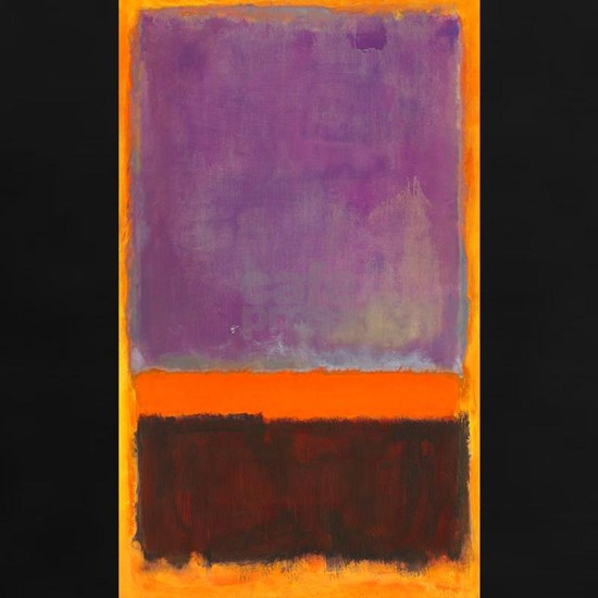ROTHKO PURPLE ORANGE BROWN