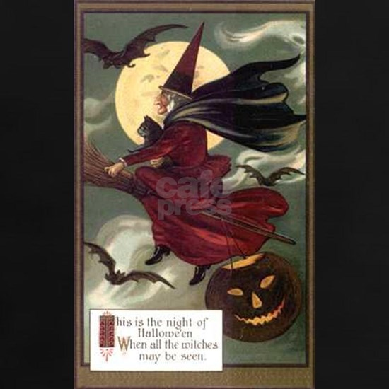 Vintage Halloween Flying Witch