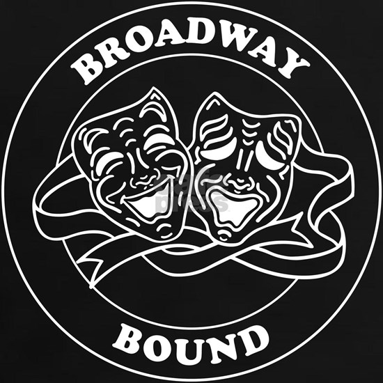 BROADWAY BOUND round badge design
