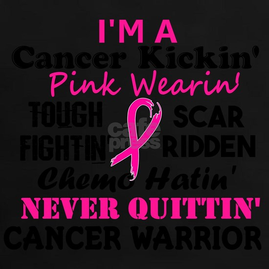 -Cancer Kickin' Cancer Warrior (Breast Cancer)