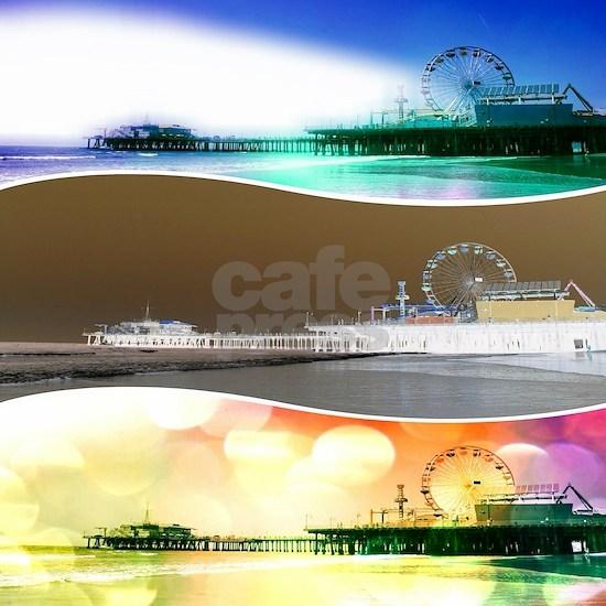 Santa Monica Pier Tricolor