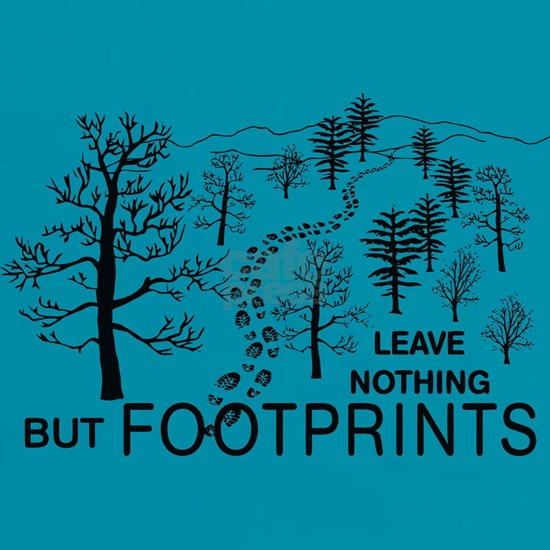 Leave Nothing but Footprints BLK