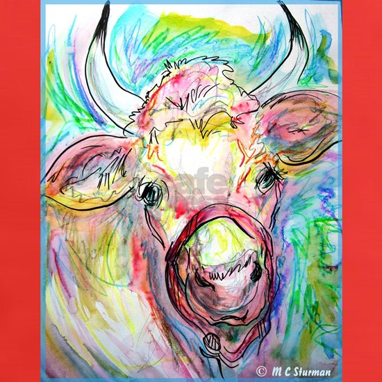 Cow! Colorful, art!