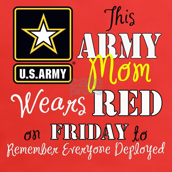 Army Mom Wears Red