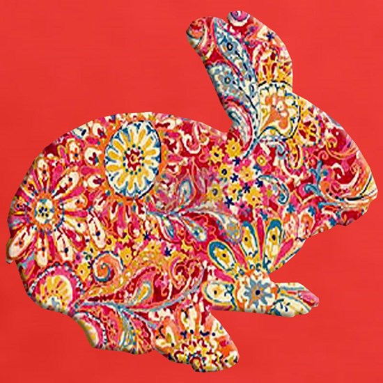 Colorful Floral Easter Bunny