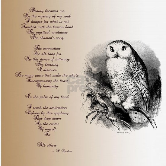 Owl with poem