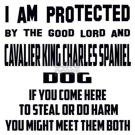 I am protected by the good lord and Cavalier King