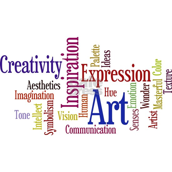 Artists Word Cloud, Creativity, Expression!
