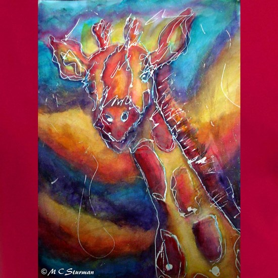Giraffe! wildlife art