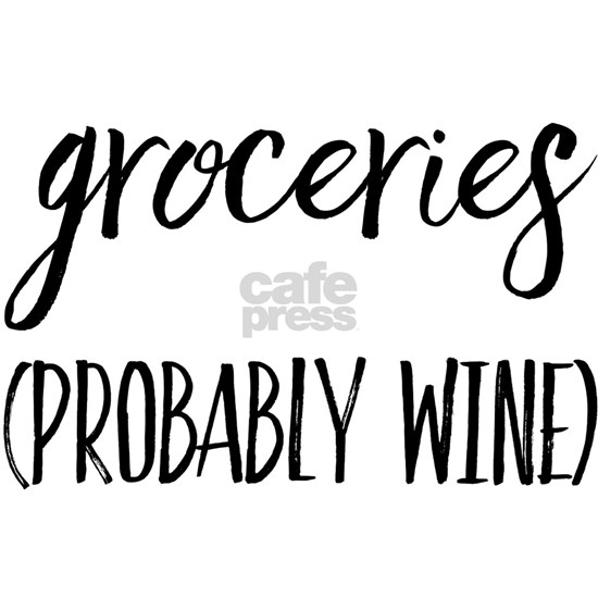 Groceries (probably wine)